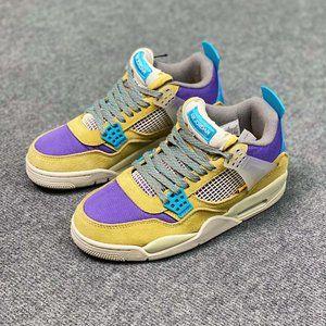 "Nike Air Jordan 4 Retro SP ""Desert Moss"" AJ4 Generation Middle Cut Retro Leisure"
